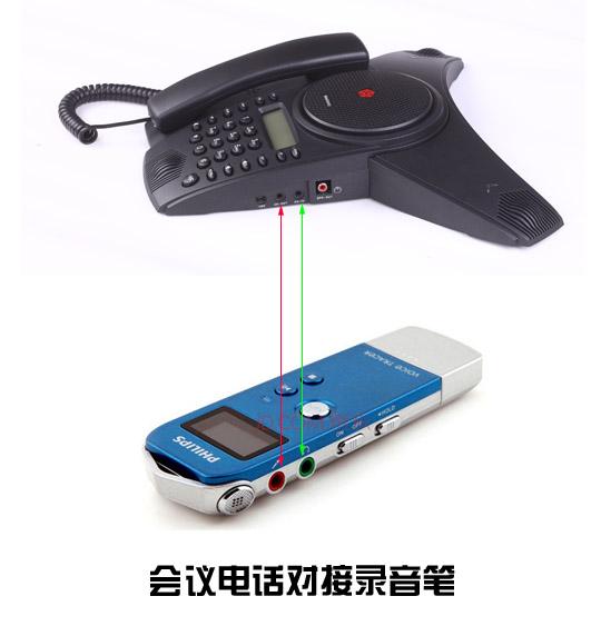 使用会议电话进行电话会议录音