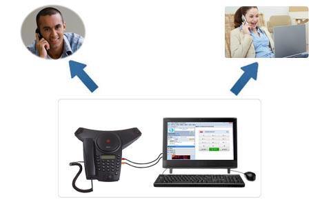 使用网络进行三方通话