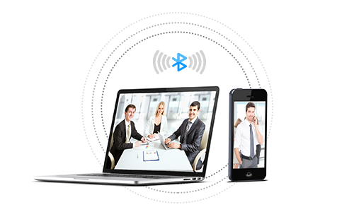 Wireless conference with Bluetooth